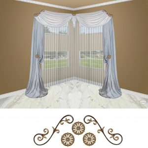 Large Venetian Scroll-5PC (Corner) Classic
