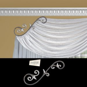 Venetian Scroll-1PC Crystal