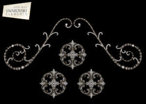 "Florence Scroll-5PC Crystal ""Corner"""