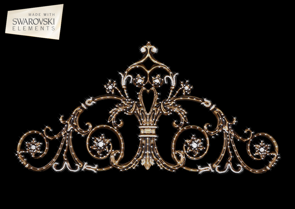 Rose Passion Crown-1PC Crystal