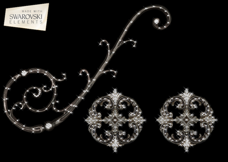 Florence Scroll-3PC Crystal