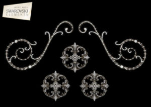 "Orion Scroll-5PC Crystal ""Corner"""