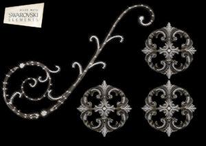 Florence Scroll – 4PC Crystal (Corner)