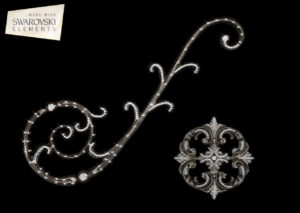 Florence Scroll-2PC Crystal