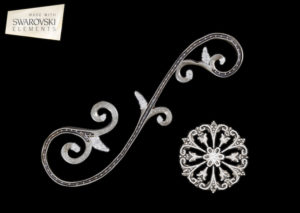 Large Venetian Scroll-2PC Crystal