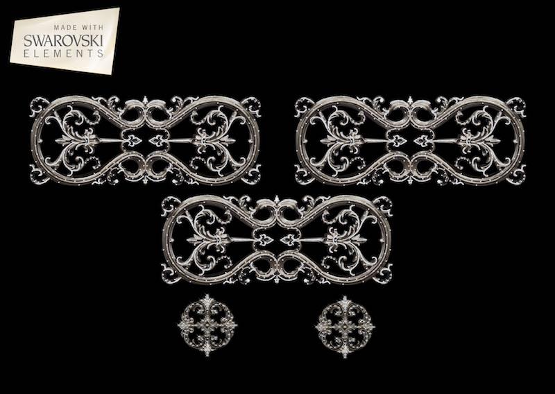 Lyra Crown-5PC Crystal