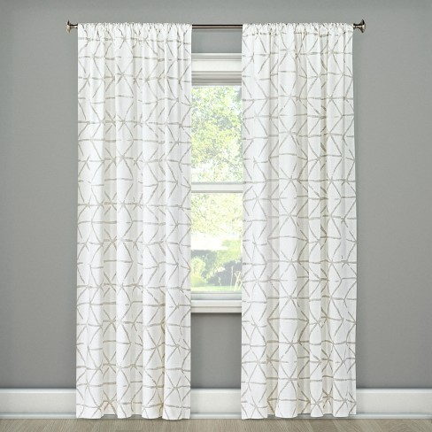 Curtains white