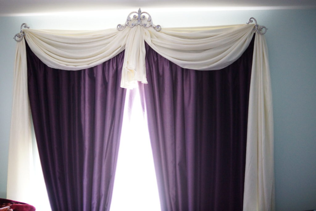 what curtains go with grey walls