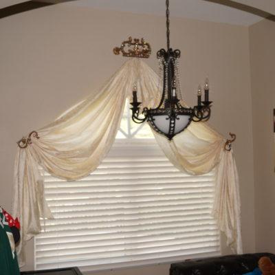 custom drapes and valances, custom fabric blinds, curtain valance box