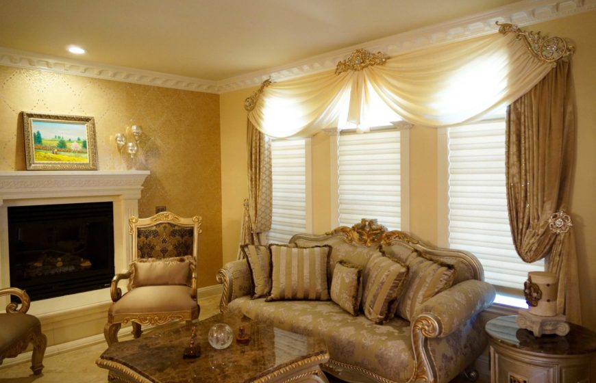 custom drapes with valances