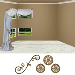 "Large Venetian Scroll-4PC Classic ""Corner"""