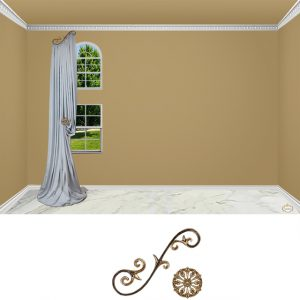 Large Venetian Scroll-2PC Classic