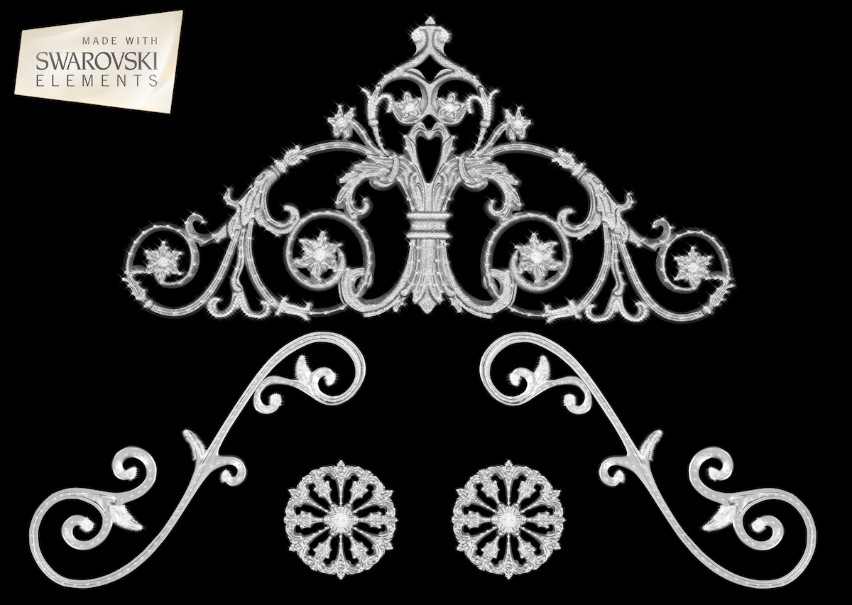 Rose Passion Crown-5PC Crystal