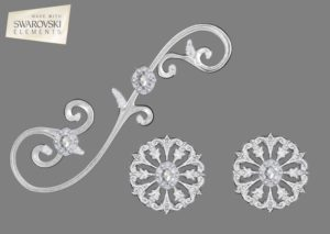 Large Venetian Scroll-3PC Gem
