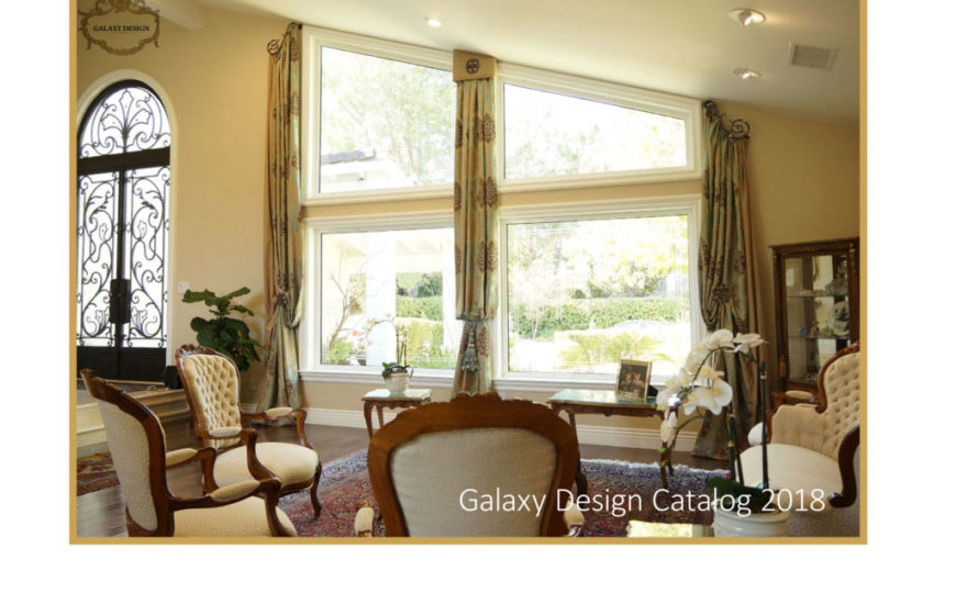 Living room tall windows