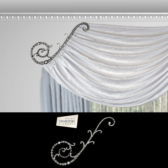Florence Scroll-1PC Crystal