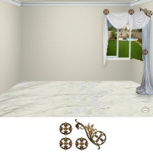 "Estella scroll-4pc-classic ""Corner"""