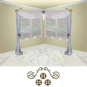 Orion scroll-5pc-classic (corner)