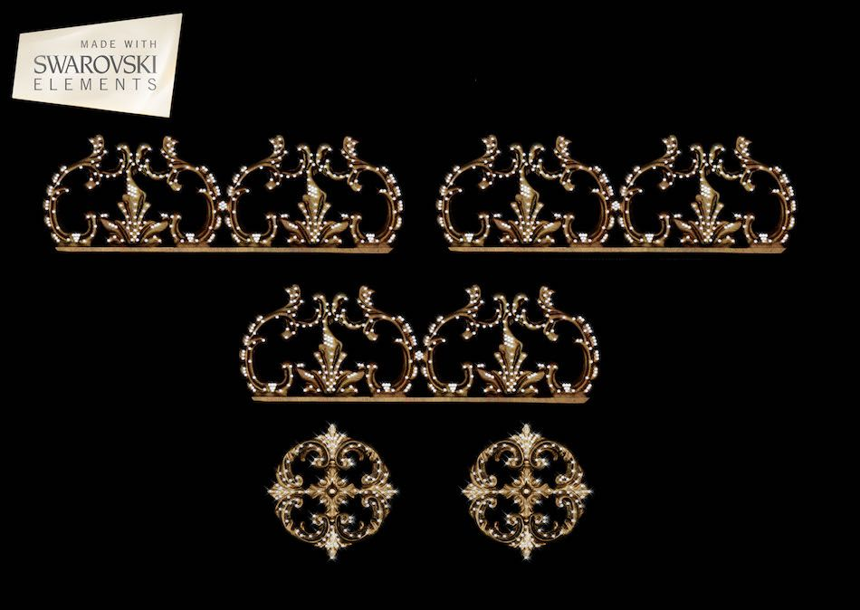 Bellagio Crown-5PC Crystal