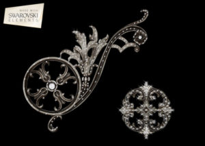 Estella Scroll-2PC Crystal