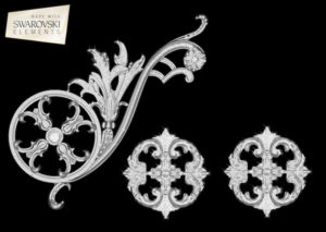 Estella Scroll-3PC Crystal
