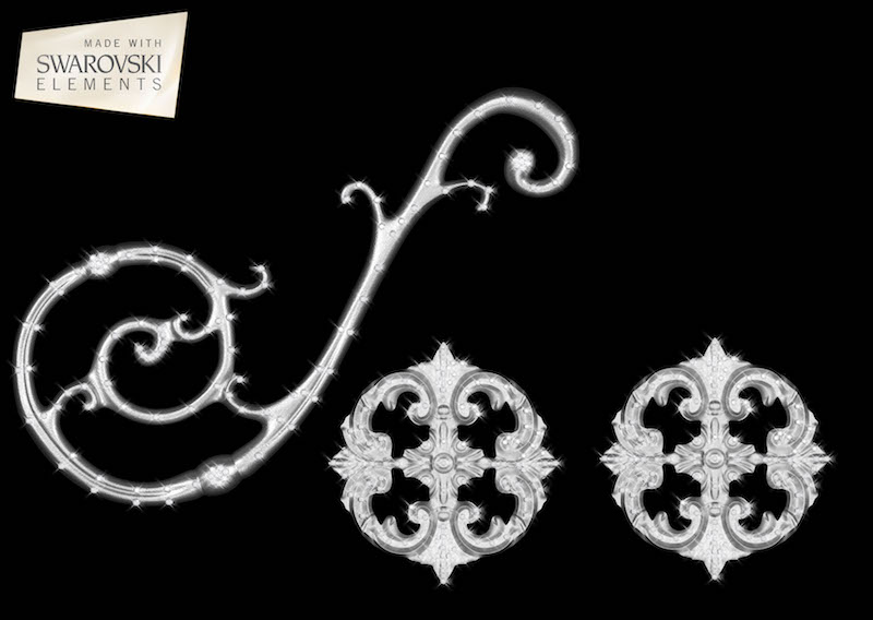 Orion Scroll-3PC Crystal
