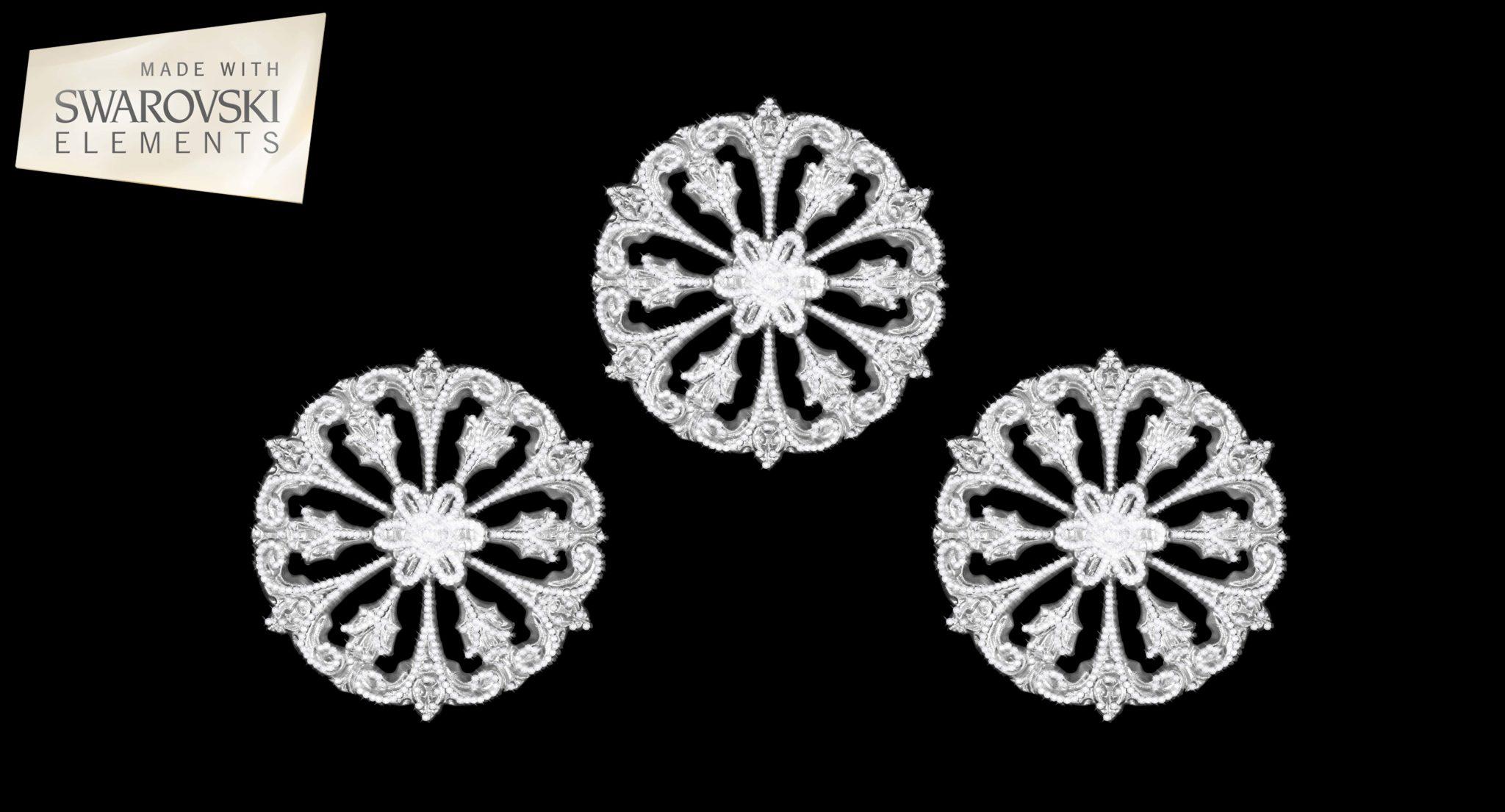 Leo HoldBack- 3PC Crystal