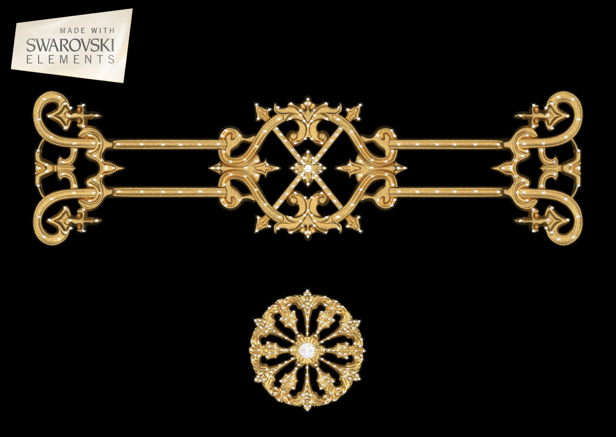 Zodiac Crown-2PC Crystal