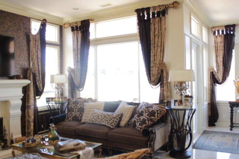 Elegant drapery panels