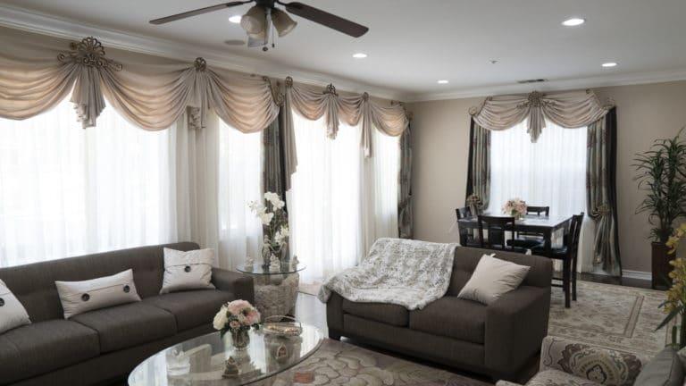 Living room drapes