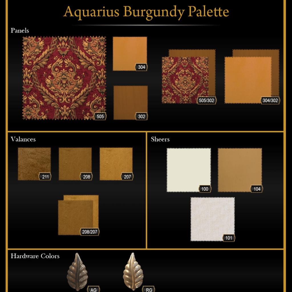 Aquarius Burgundy Palette