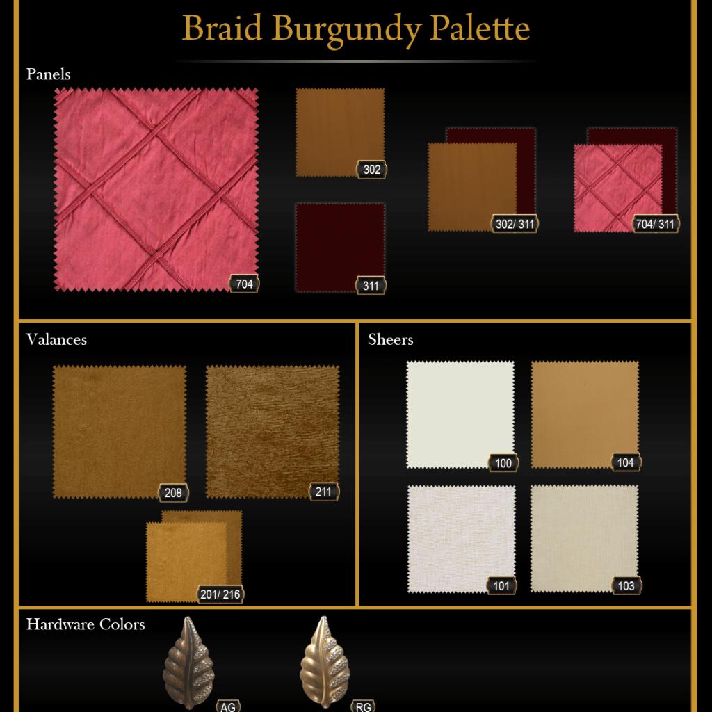 Braid Burgundy Palette