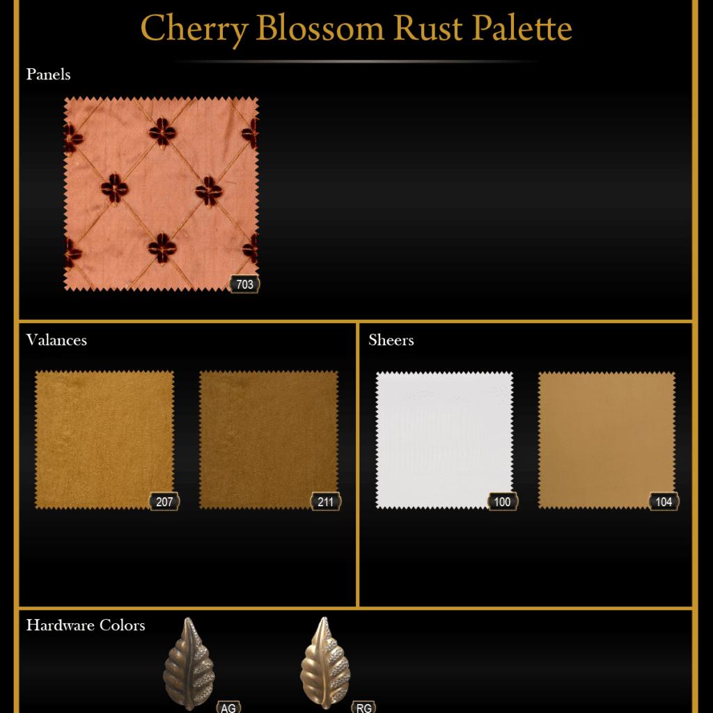 Cherry Blossom Rust Palette