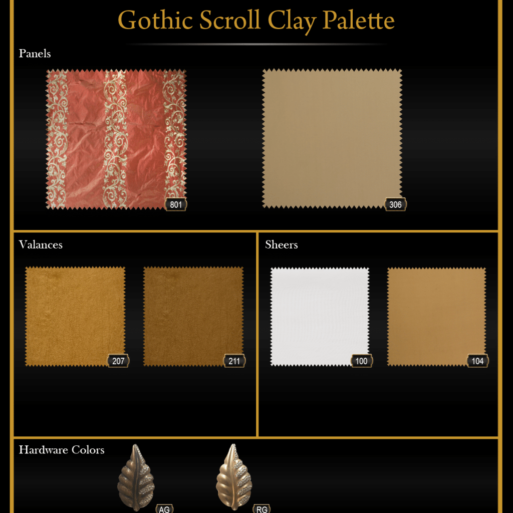 Gothic Scroll Clay Palette