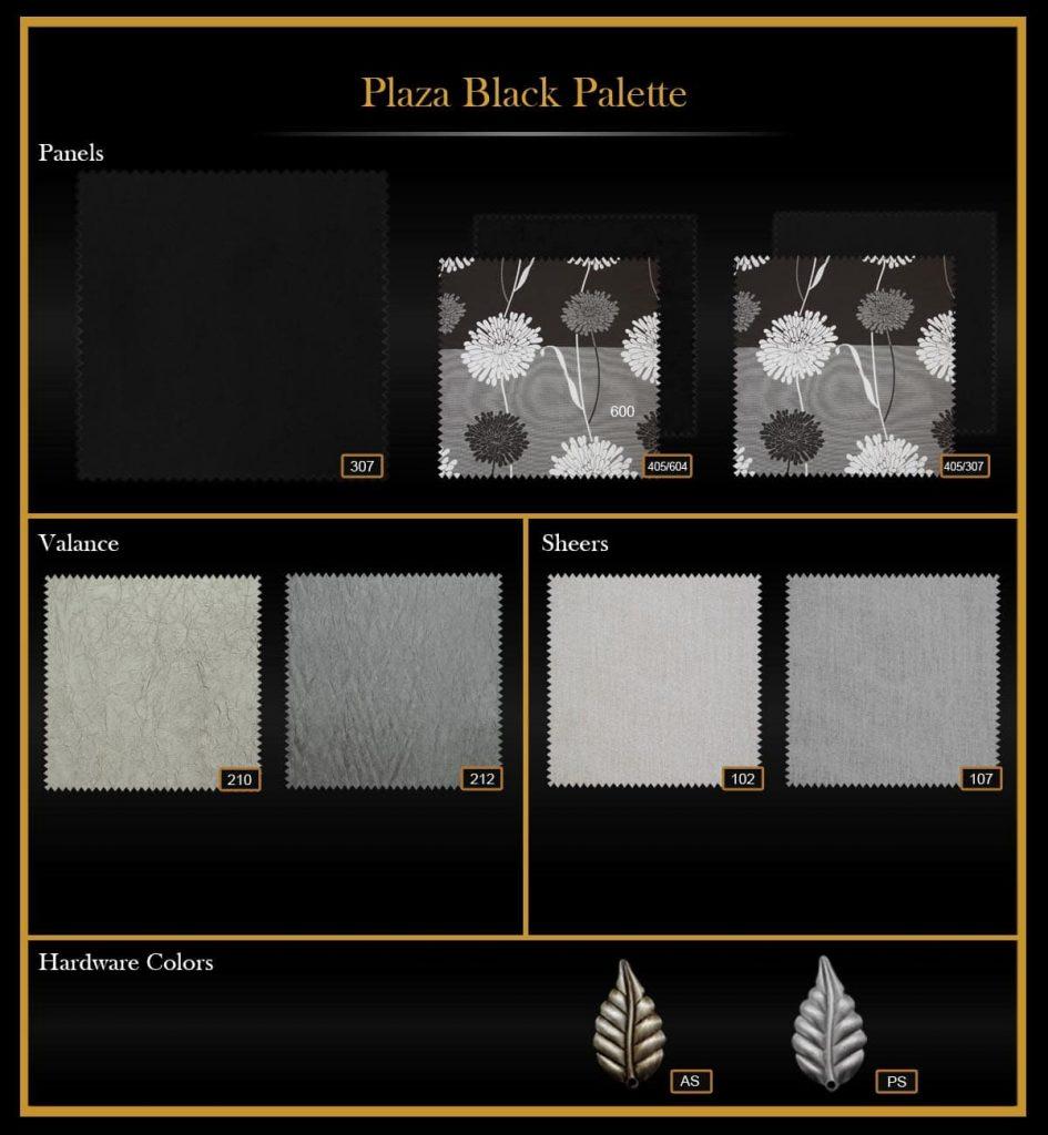 Plaza black palette