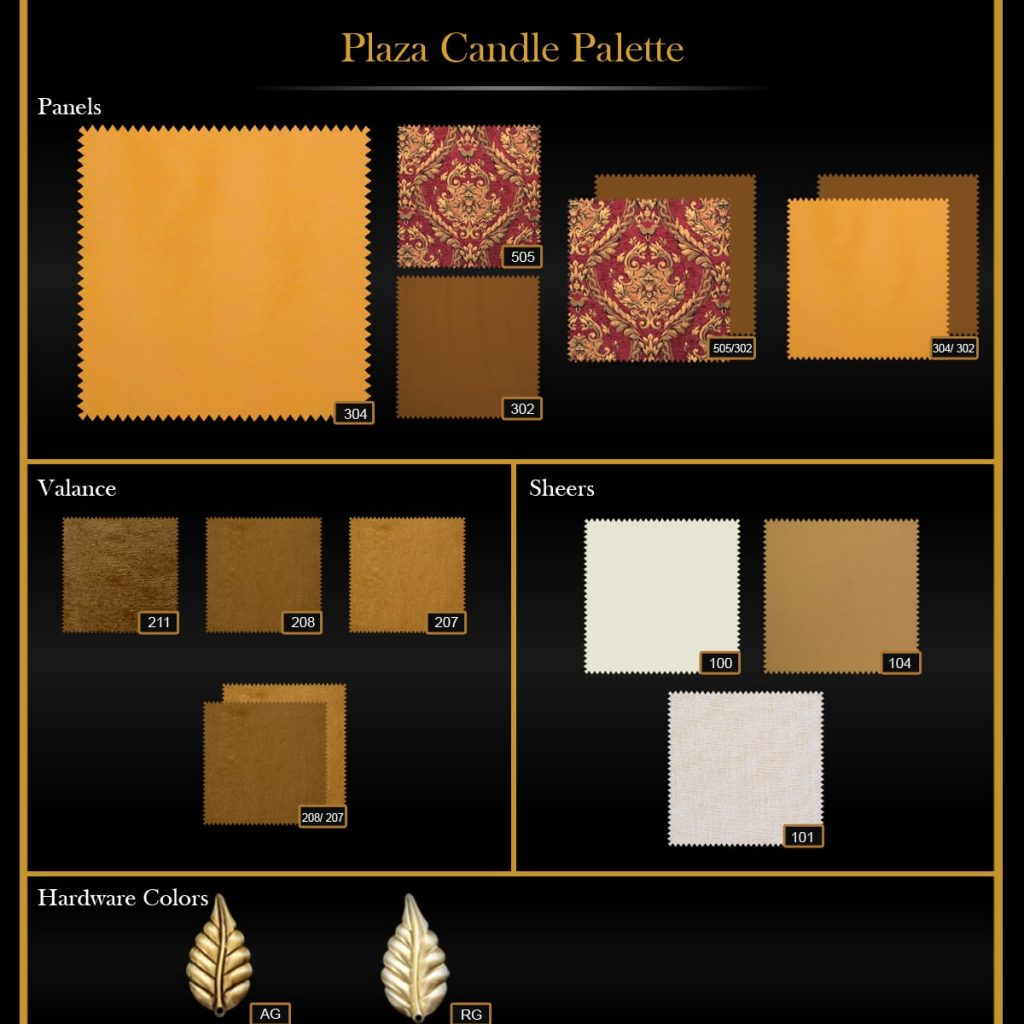 Plaza Candle Palette
