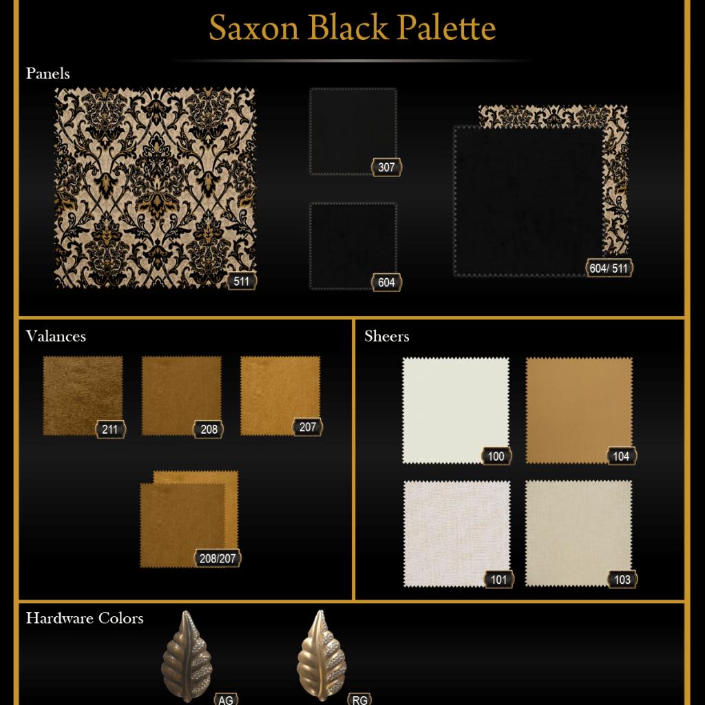Saxon Black Palette