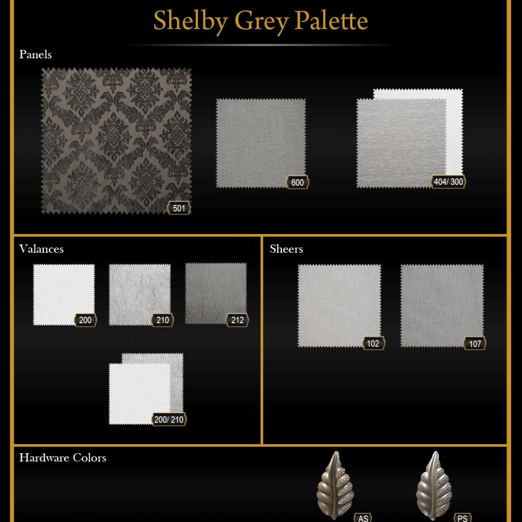 Shelby Grey Palette