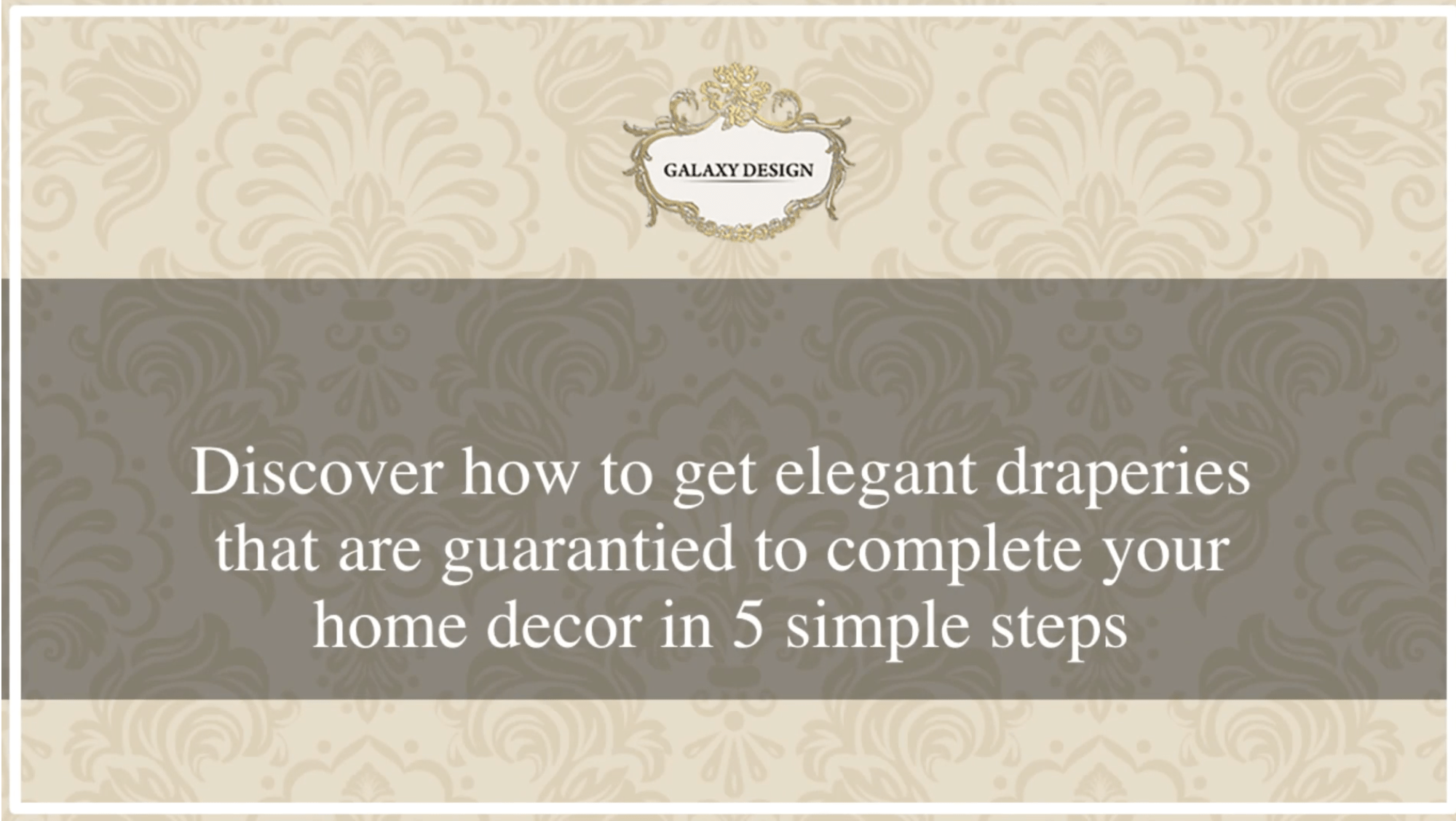 How to get elegant drapery packages
