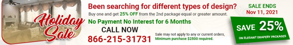 Holiday curtain sale